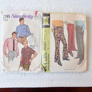 Vintage Patterns - 60s Man Shirt & Pants